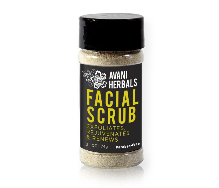 Avani Herbal Facial Scrub. Exfoliates, Rejuvenates, & Renews.