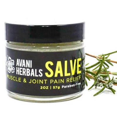 A 2 oz jar of Salve Muscle & Joint Pain Relief
