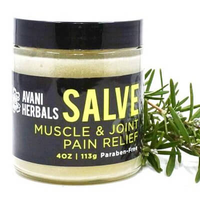 A 4 oz jar of Salve Muscle & Joint Pain Relief