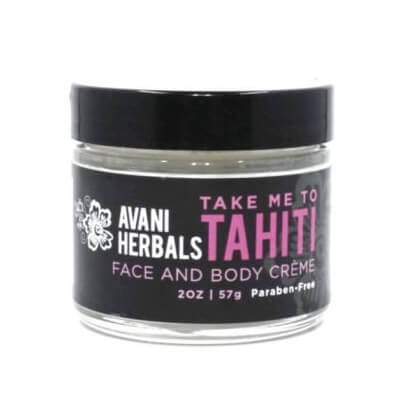 A 2oz bottle of Tahiti Face and Body Creme