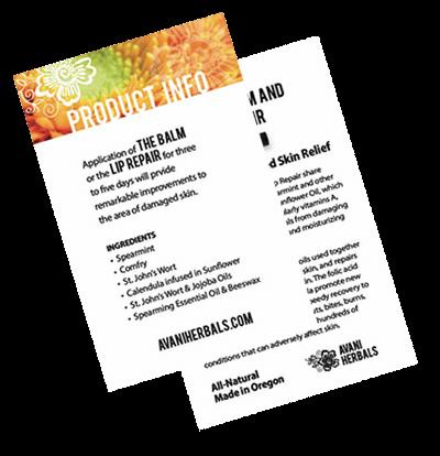 Balm Product Info Card